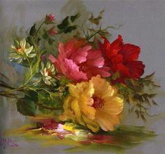 Floral Oil Paintings GARY JENKINS
