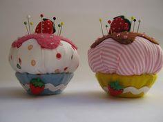 Arte e Mimos - Artesanato em feltro: Alfineteiro Cupcake!!! Hoje (26/04) no Sabor de Vida...