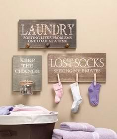 Laundry room decor on pinterest laundry room decorations lost socks and laundry rooms - Diy home decor ideas pinterest collection ...
