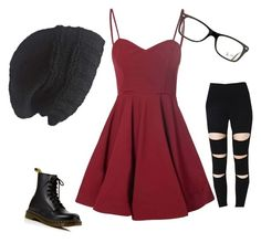 """""""Untitled #7"""" by agurschasity on Polyvore featuring Glamorous, Laundromat, Dr. Martens and Ray-Ban"""