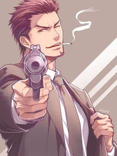 Cool Anime Guys, Handsome Anime Guys, Anime Redhead, Yakuza Anime, Final Fantasy Art, Estilo Anime, Dark Anime, Manga Drawing, Character Design Inspiration