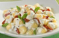 Gnocchi con pancetta e philadelphia