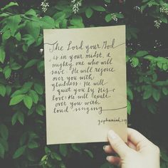 Zephaniah 3:19 God in my midst.  Instagram: pg7inc