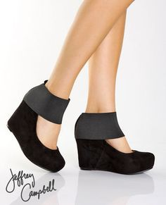 Jeffrey Campbell Wednesday wedges i kinda love these, but they do remind me of barbie shoes.
