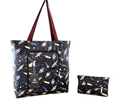 Foldable Tote Bag for Women-Top Zipper Closure Premium Quality Lightweight Cute (Black) Shanta Best Travel Bags, Library Bag, Cute Tote Bags, Hospital Bag, Gifts For Girls, Bag Sale, Diaper Bag, Zipper, Shoulder Bag