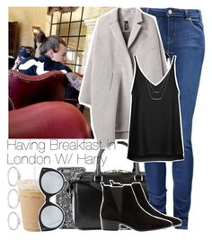 """""""Having Breakfast in London With Harry"""" by twerkhazz ❤ liked on Polyvore featuring Forever 21, Yves Saint Laurent, Paul by Paul Smith, Zero + Maria Cornejo, Topshop, Illesteva, H&M and MANGO"""
