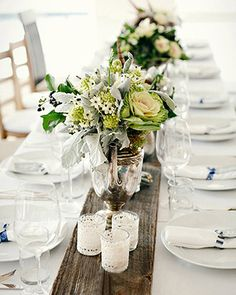 beach table decorations wedding - Google Search