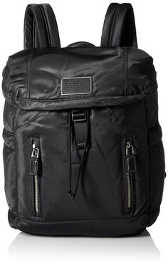 Marc by Marc Jacobs Palma Drawstring Backpack Handbag, Black, One Size. Drawstring backpack featuring front flap with log plaque and hanging locker loop. Padded adjustable shoulder straps.