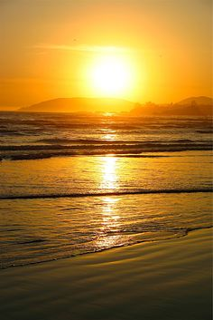 Sunset at Pismo Beach, California  Photography © Jeffrey J. Francois