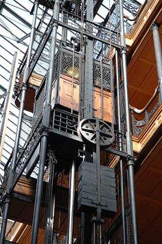Interesting birdcage on a thyssenkrupp elevator.