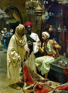 The Carpet Seller in Egypt by Rudolph Swoboda