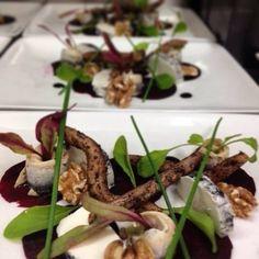 Beetroot, goats cheese, white anchovies #foodie #foodporn #foodstyling #foodadventures #aussiefood #newzealand #hawkesbay #igfood #instafood #gastrochef #foodstyling