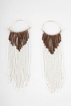 I need these, please and thank you. Beaded Brazil Earrings in White $11 at www.tobi.com