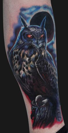 Owl+tattoos | Jamie Lee Parker - Owl Tattoo - Tattoos and Fine Art