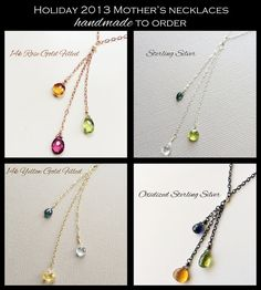Birthstone Necklace, Custom Mothers Necklace, Mothers Birthstone Necklace, Grandmothers Necklace, Family, Mothers Jewelry, Mother of 3