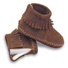 Minnetonka Infants Velcro Back Flap Bootie - Kids Moccasins at Moccasins