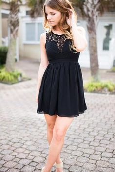 Dance the Night Away Little Black DressThis little black dress is the perfect dress for dancing! So, go ahead, dance the night away with your special someone like you're, Whitney Houston! So do not fret the little black dress with open ...