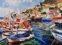 Buy artwork 'Marina' author Kateryna Bortsova auction of modern painting price is 345 USD Art For Sale Online, Online Art, Michael Art, Artwork Online, Art Auction, Paintings For Sale, American Art, Impressionism, New Art