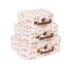Set de 3 valises « Petits renards» @ Les Brodeuses Parisiennes