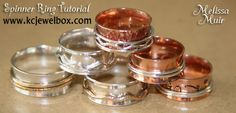 Spinner Ring Tutorial by Melissa Muir - $9.50 www.kcjewelbox.com