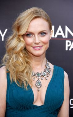 Heather Graham shows us how to do side-swept glamour in style. Style it up instead of chopping it off this summer.
