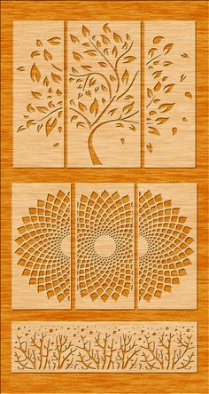 icu ~ Pin on laser ~ 3 Tree Wall Hanging Wall Decor Decal Wall Vinyl Tree Metal Clock, Metal Wall Art, Wood Art, Tree Stencil For Wall, Tree Wall Art, Stencil Painting, Routeur Cnc, Cnc Router, Wall Vinyl