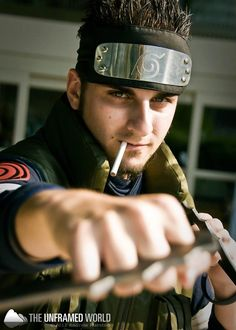 Asuma Sarutobi, Naruto cosplay. Wow, I haven't geeked out over anime since I was a teenager but this is awesome!