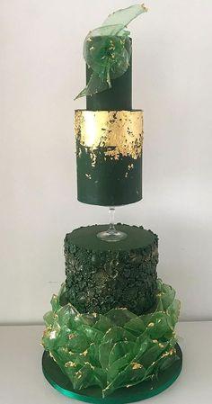 Green Birthday Cakes, Boys 1st Birthday Cake, Birthday Cakes For Women, 40 Birthday, Textured Wedding Cakes, Beautiful Wedding Cakes, Beautiful Cakes, Amazing Cakes, Wedding Cake Designs