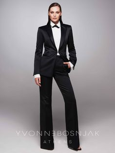 Stills from Yvonne's Bosnjak Official campaign shoot fro her debut collection for Fall/Winter Androgynous, Winter Collection, Campaign, Fall Winter, Elegant, Formal, Lust, How To Wear, Pants