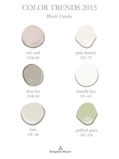 ↞⋄↠ Color Trends 2015 - Blush Family                              …