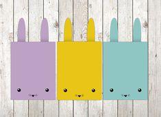 Osterkarte Häschen zum selber Ausdrucken von JUT Design auf DaWanda.com