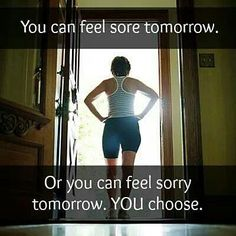 And remember....7 days without exercise makes one weak. ;-) Now get up and get active...You can do it!!! :-)