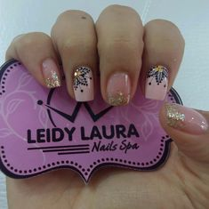 Uñas Cute Nail Art, Easy Nail Art, Cute Nails, Pretty Nails, Blush Nails, Glitter Nails, Hair And Nails, My Nails, Work Nails