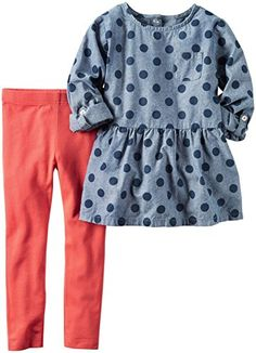 f47d507a1c Carter s baby children kids Chambray Top   Legging Set by Carter s China  official store