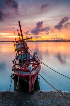 Fishing boat at Pattaya,Thailand