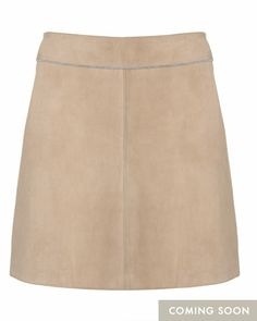jigsaw bonded suede and jersey skirt