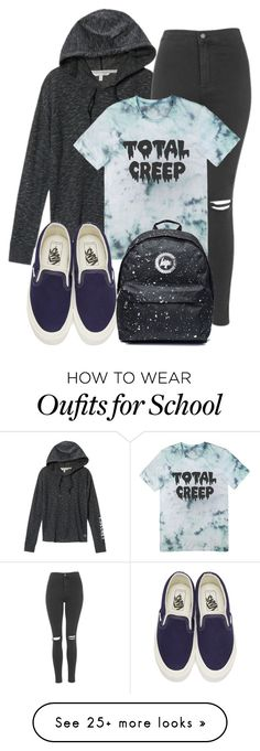 """Jeremy Inspired Outfit"" by fangsandfashion on Polyvore featuring Victoria's Secret, Topshop and Vans"
