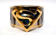 Very cool Superman Ring with krypton symbols all around.