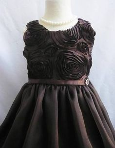 girls satin rosette dress - Google Search
