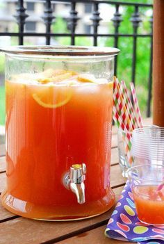 Punch for a crowd. This sounds so delish!