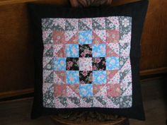 Patchwork Cushion. by PatchworkThings on Etsy, £25.00