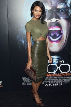 Crystle Stewart attends the premiere of Lionsgate's' 'Boo! A Madea Halloween'