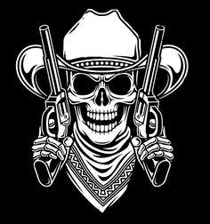 Skull Stencil, Skull Art, Alien Drawings, Tattoo Drawings, Reaper Drawing, Outlaw Tattoo, Rockabilly Tattoos, Western Tattoos, Couple Sketch