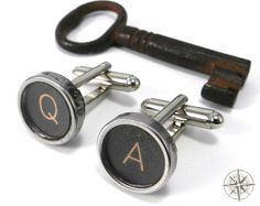 Mens Collection - Typewriter Key Cuff Links - Q and A