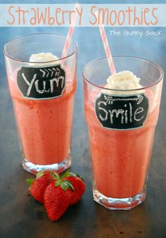 How to Strawberry Smoothies
