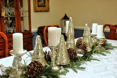 Marsha's Creekside Creations: Easy New Year's Table-Hello Winter!