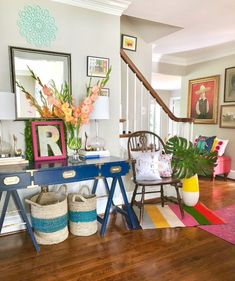 Look Inside My Home: A Colorful, Pattern-filled House in the DC Suburbs Living Spaces, Living Room, Design Poster, Inside Me, Beauty Room, Colorful Decor, Decoration, House Colors, Sweet Home