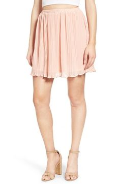 Free shipping and returns on Lush Pleated Chiffon Miniskirt at Nordstrom.com. Tiny pleats add dreamy texture to a swingy little miniskirt in the perfect peachy shade.