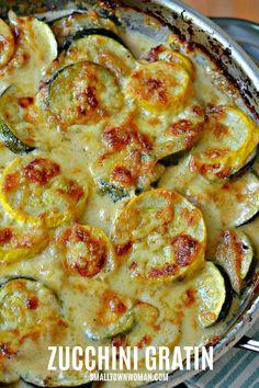 Recipes Breakfast Vegetarian Zucchini and Yellow Squash Au Gratin Zuchinni Recipes, Recipe Zucchini, Vegetable Side Dishes, Squash Vegetable, Vegetable Gratin Recipes, Garden Vegetable Recipes, Sprouts Vegetable, Vegetarian Recipes, Cooking Recipes