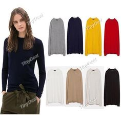 Casual Purity Crew Neck Fashion Sweater Knitwear for Women Girl Ladies DCD-375368